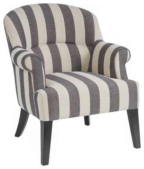 drew blue stripe club chair contemporary