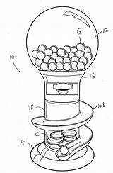 Gumball Machine Drawing Coin Operated Patents Google sketch template