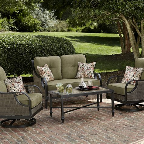 Patio Seating by La Z Boy Outdoor 4 Seating Set Green