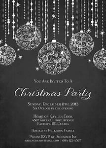 Printable Sparkle Christmas Invitation by ...