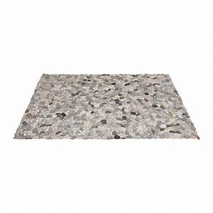 tapis en cuir carre circle grey 170x240 kare design With tapis carré design