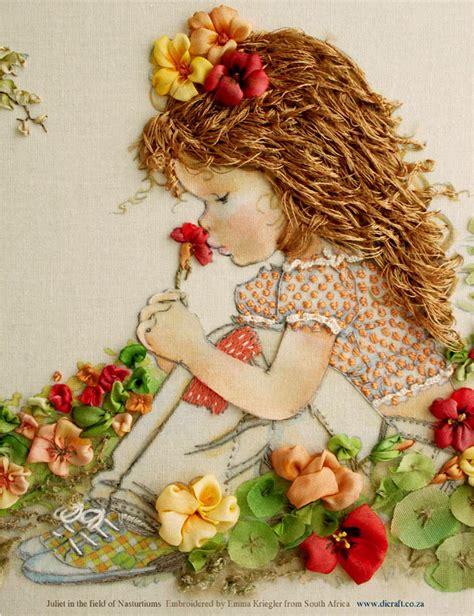 mice  ramen  van niekerk silk ribbon embroidery