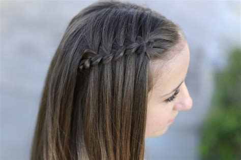 how to create a 4 strand waterfall braid cute girls