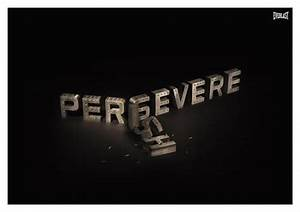 Never Quit, never buckle, never stop..Persevere ...