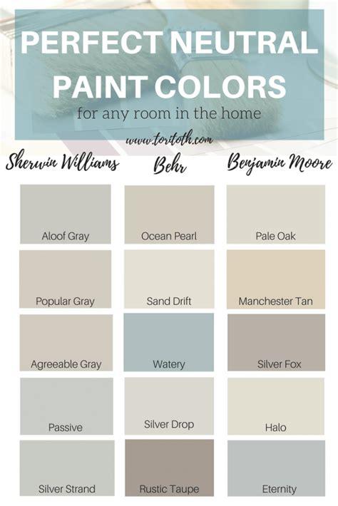 neutral paint colors choose color sheen for walls