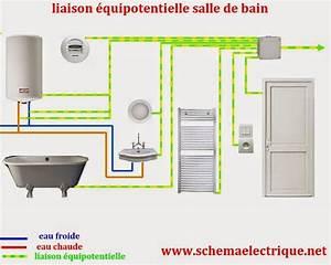 schema d39installation electrique salle de bain liaison With schema electrique salle de bain