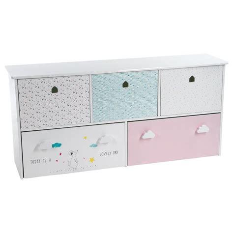 meuble de rangement pour chambre bébé meuble de rangement enfant 5 tiroirs quot sweety quot 114cm