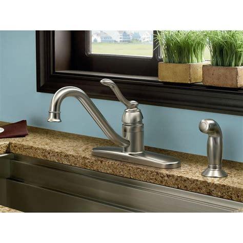 Moen Banbury Faucet by Moen 87690srs Banbury Side Sprayer Kitchen Faucet In Spot