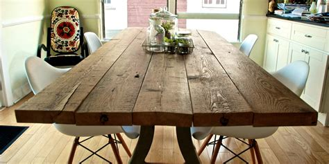 diy reclaimed wood table  aspirational hipster
