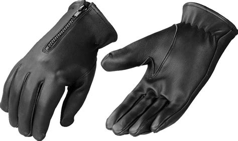 Mens Insulated Thermal Leather Glove Motorcycle Or