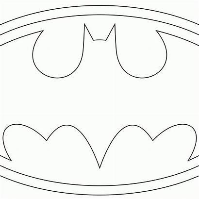 Coloring Batman Symbol Mask Template Pages Printable