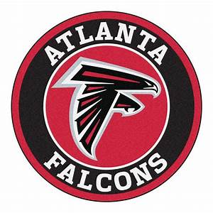 FANMATS NFL Atlanta Falcons Black 2 ft 3 in x 2 ft 3 in Round Accent Rug-17950 - The Home Depot