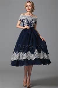 robe de mariã e vintage dentelle edressit robe cocktail bleu marine rétro chic avec dentelle 04151905