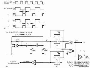 Two Phase Clock For 8080 - Basic Circuit - Circuit Diagram