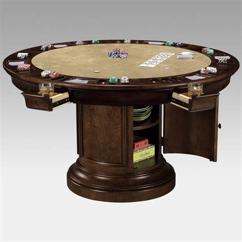 Round Dining Table That Converts To Game Table Use