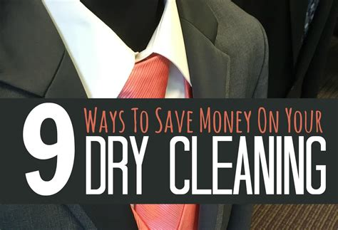 9 Secret Ways To Save Money On Dry Cleaning