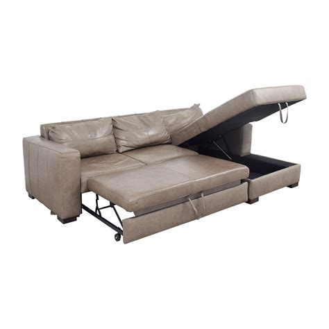 Sleeper Sofa Convertibles by 81 Arhaus Arhaus Grey Soft Leather Convertible