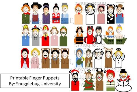 printable finger puppets pattern  snugglebug university