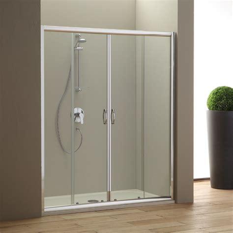 porte in cristallo per doccia nicchia doccia 160 cm con ante scorrevoli in cristallo