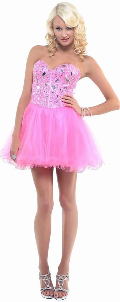 Prom Short Dresses Pink Corset Cheap Dressed