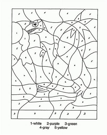 Coloring Dinosaur Number Education Numbers Pages Printables