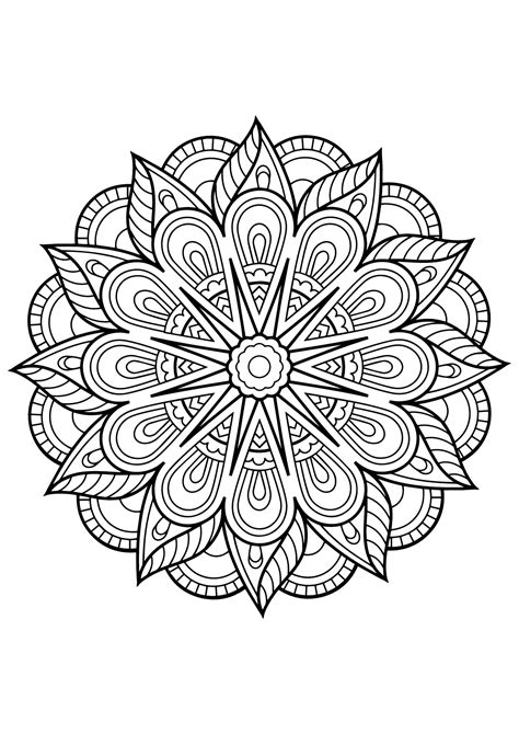mandalas  print   mandalas kids coloring pages