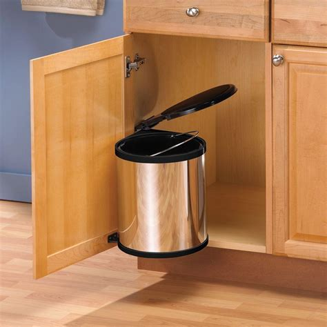 Cabinet Trash Can With Lid by Knape Vogt 16 5 In X 11 In X 11 In In Cabinet Pivot