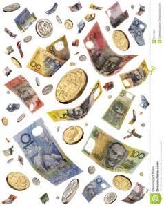 Money Falling through the Air