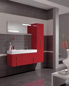 Deco Salle De Bain Gris : inspirations du moment pour une belle d co salle de bain gris et rouge ~ Farleysfitness.com Idées de Décoration