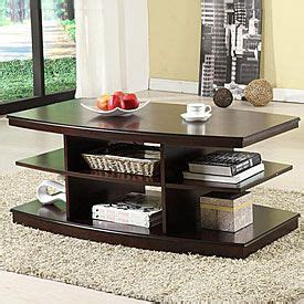 Coffee tables and tip sets can combine rooms, making them more stylish and more functional. love this coffee table from big lots!!   Coffee table with shelf, Home furniture, Furniture