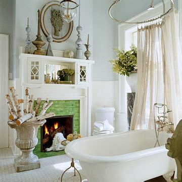 silver trappings  dream bathroom