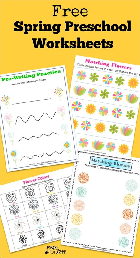 free preschool worksheets mess for less 972 | Spring preschool worksheets3
