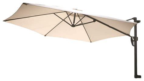 aruba folding wall mount umbrella canopy grey