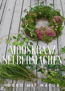 Kränze Binden Efeu : mooskranz selber machen deko mit moos und naturmaterialen ~ Watch28wear.com Haus und Dekorationen
