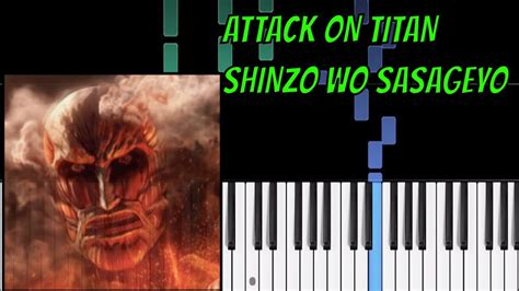 If the first code not working then try 2nd code. ATTACK ON TITAN SHINZO WO SASAGEYO EASY piano tutorial cover - YouTube