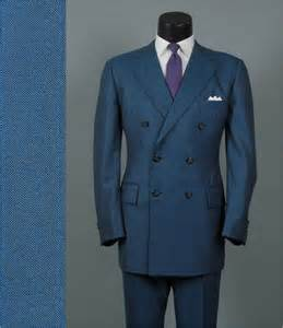 Blue Double Breasted Pinstripe Suit
