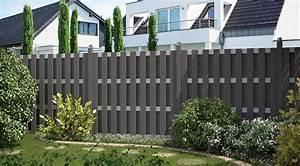 Boden Für Terrasse : sichtschutzzaun holz anthrazit ~ Michelbontemps.com Haus und Dekorationen