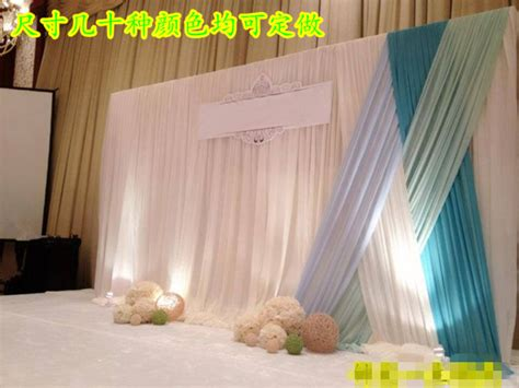 gauze drapes for wedding stage decorations wall
