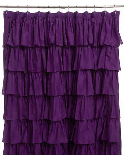 india rose quot plum ruffle quot shower curtain purple my