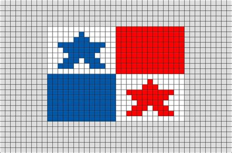 flag of panama pixel brik pixel designs pixel