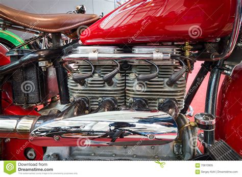 Indian Motor Style Stock Photo
