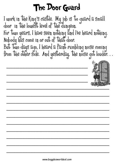 creative writing worksheets  grade   grade