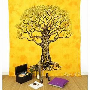 Arbre De Vie Decoration Murale : jaune queen mandala arbre vie tapisserie tenture murale pique nique boh me d cor ebay ~ Teatrodelosmanantiales.com Idées de Décoration