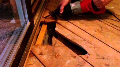 repair spongy  floor   install wood floor