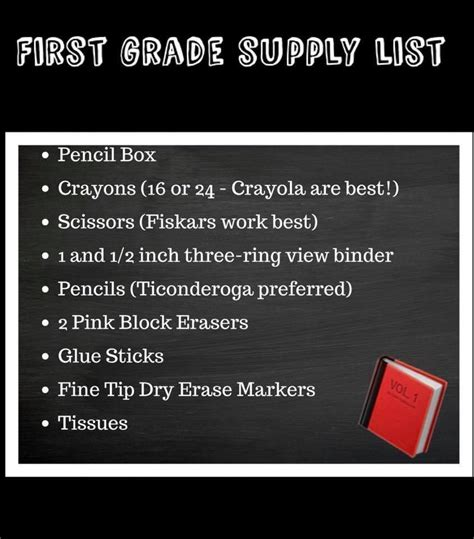 supply lists mw cuyler elementary school red creek