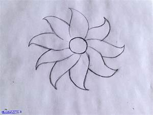 How To Draw Beautiful And Easy Flowers - Drawing Artistic