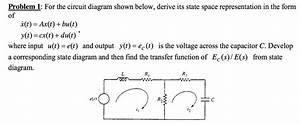 Solved  For The Circuit Diagram Shown Below  Derive Its St