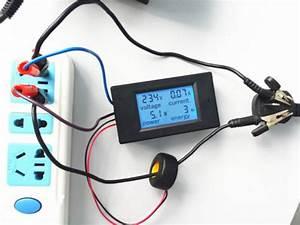 Ac 110v 220v Digital Lcd 100a Watt Power Meter Volt Amp Ammeter Voltmeter   Case Free