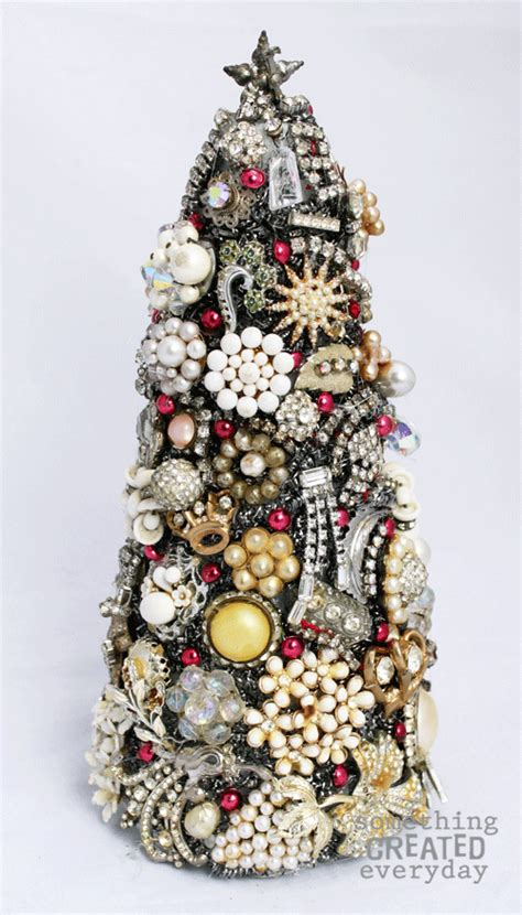 something created everyday vintage jewelry christmas tree