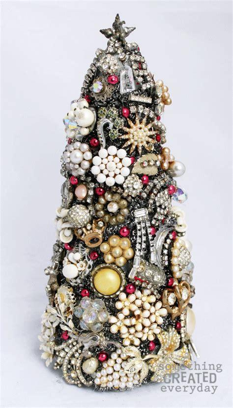 Something Created Everyday Vintage Jewelry Christmas Tree